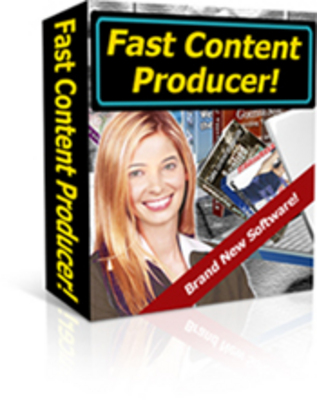 Product picture Fast Content Producer with PLR